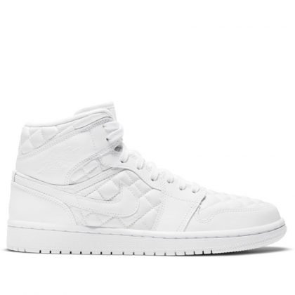jordan 1 mid quilted white